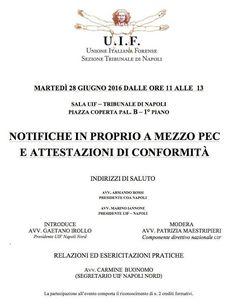 """Studio Legale Buonomo - Diritto Previdenziale ed Assistenziale: Evento Formativo """"Notifiche PEC ed attestazioni di..."""