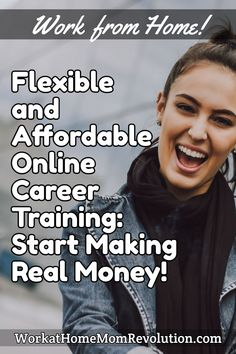 WorkatHomeMomRevolution.com Work from Home! Flexible and Affordable Online Career Training: Start Making Real Money! #workathome #workfromhome #jobs #moms #workathomejobs #workfromhomejobs #homebasedjobs #momlife Money Tips, Money Saving Tips, Home Based Jobs, Career Training, Make Real Money, Work From Home Moms, Money From Home, Shopping Hacks, Hustle