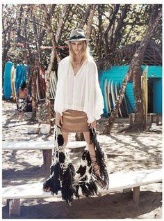 Sasha Pivovarova Models Pretty Bohemian Styles for Madame Figaro Cover Shoot