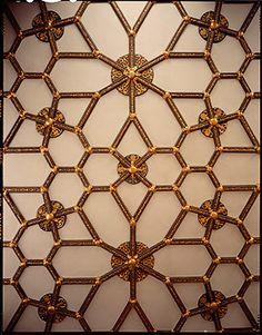 Hampton Court Palace ceiling, Tudor rooms.