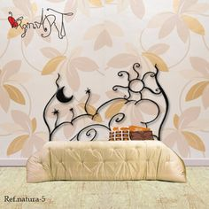 Iron Furniture, Furniture Design, Wrought Iron Headboard, Diy Headboards, Iron Work, Wardrobe Design, Metal Beds, Apartment Furniture, Awesome Bedrooms