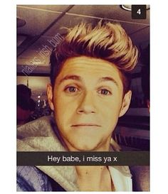 I can't bc seriously, snap chatting this boy would be so much fun ♡ I'm snapchat crazy ! AHHHHH ! This is on my bucket list lol ♡ love you niall ♡ xx