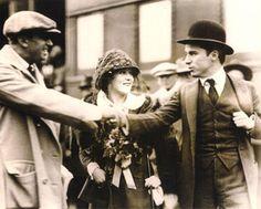 Douglas Fairbanks, Mary Pickford, Charlie Chaplin April 1918, during Liberty Loan War Bond Drive.