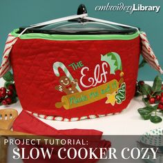 Perfect for any slow cooker! Tutorial from Embroidery Library