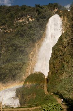 Las cascadas El Chiflón son las más espectaculares de Chiapas, México.