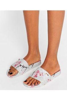 Ted Baker Armeana Oriental Blossom Slider Flat Sandals - Multi https://modasto.com/ted-ve-baker/kadin-ayakkabi-sandalet/br5094ct19