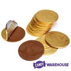 These things are BIG — Madelaine Gold Foiled Buffalo Giant Milk Chocolate Coins Wholesale Candy, Gold Candy, Online Candy Store, Types Of Candy, Giant Candy, Penny Candy, Chocolate Coins, Golden Milk, Baking Supplies