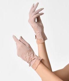 Designer Clothes, Shoes & Bags for Women Pink Gloves, Lace Gloves, Gants Vintage, Queen Aesthetic, Pin Up, Wedding Gloves, Vintage Gloves, Princess Style, Vintage Glamour