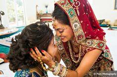 Traditional Indian wedding ceremony at the bride's parent's house. Hyatt Regency OC reception.  www.shaadishop.co