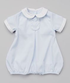 Another great find on #zulily! Petit Pomme Blue Collared Bubble Bodysuit - Infant by Petit Pomme #zulilyfinds