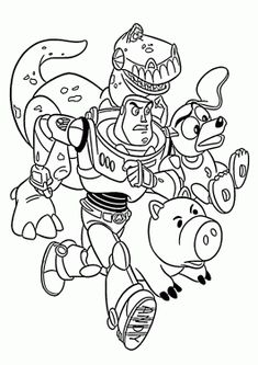 rescue from toy story coloring pages for kids printable free