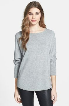 In Cashmere Dolman Sleeve Metallic Sweater