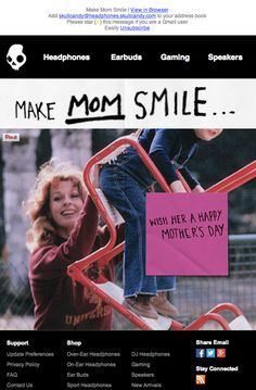 Skullcandy Mother's Day email 2014