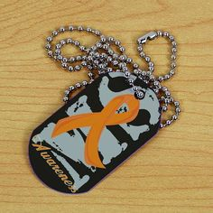 Wear this MS Awareness Dog Tag to help educate everyone that may see it