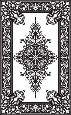 Custom patterns and stencils for etching, faux painting, embossing ...