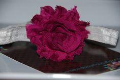 Raspberry Shabby Chic Flower Headband / by lilibirdbowtique, $7.00