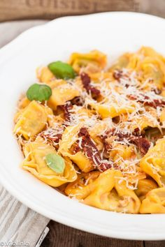 This pasta is quick, inexpensive and not too heavy while still leaving you feeling like you've just indulged in a bowl of luxurious, creamy pasta.