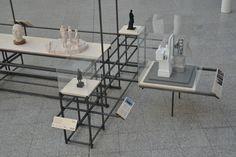 24 mm systeem van Arend Groosman: tentoonstellingspaviljoen. Je kunt er ook meubels en sculpturen mee maken #dutchdesign