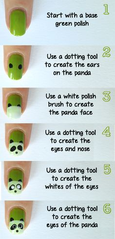 Tutorial : Panda Nails | Jamegackie #nail #nails #nailart