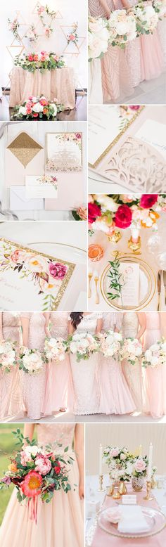 blush pink and gold wedding color ideas