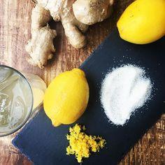 House Made Ginger Soda - fresh ginger lemon zest and 100% organic non-GMO cane sugar! Refreshing citrusy and just enough sweetness! #yummy #ginger #soda #housemade #lemon #zest #organicsugar #ryeny #westchester #lohud