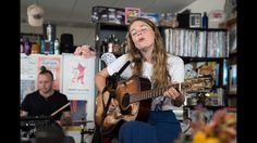 """The rising pop star performs three of her best-known songs, including a sweet solo take on her career-making """"Alaska. Live Music, Good Music, Stephen Thompson, Broadway Plays, Guitar Stand, Guitar Girl, Liam James, Guitar Songs, Music"""