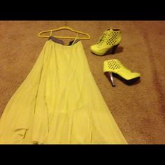 Spotted while shopping on Poshmark: Anthropologie yellow skirt! #poshmark #fashion #shopping #style #Anthropologie #Dresses & Skirts
