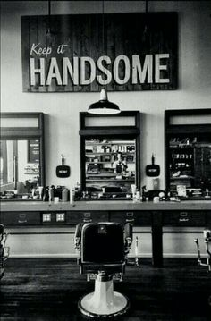 At the barber shop