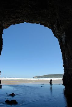 Cathedral Caves.  The Catlins  New Zealand. Need to find this for this summer!!