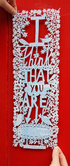Rob Ryan is a paper art genius. Love the dictionary idea of this piece too...