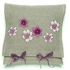 Scattered flowers cross stitch