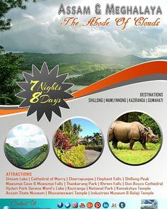 Assam & Meghalaya - A Dream Land in clouds...!!!