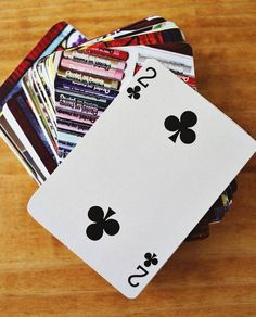 DIY Home Decor Crafts Playing Cards With Photos On Back