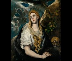 El Greco - Magdalene in the Wildnerness, 1580-85, Nelson-Atkins Museum of Art, Kansas City