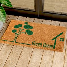 Natural Coir Door Mats with Attractive Printed Designs to Welcome your Guests. The tough hardwearing Coir Brush Surfaces keeps the dirt away from your home. Mats are available in rectangular, half, round, oval and oblong shapes in all regular sizes. Ideal for covered entranceways and patios. Coir surface with Anti slip backing. Made from natural coconut fibers called coir. Natural coconut fibers enhance beauty and offer superior cleaning performance. Material: Coir  Size (L X W): 45 cm x 75 cm Entrance Ways, Coir Doormat, Door Mats, Go Green, Coconut, Surface, Cleaning, Shapes, Printed