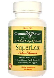 Common Sense Products (CSP) -     Natural Herbal Laxative   Relieves Bloating, Gas & Constipation   Digestive System Support   Alleviates Acid Reflux   Helps Prevent Appendicitis    Serving 4 Tablets   AMOUNT PER SERVING: Proprietary Blend 2240 mg*  Cascara Sagrada Bark*,Fennel Seed*,Psyllium Husk*,Slippery Elm Bark*,Senna Leaves*,Acidophilus Bifidus*. *Daily Value Not  Established. Other Ingredients: Dicalcium Phosphate,Cellulose (plant fiber),Calcium Sulfate, Stearic Acid (vegetable)…