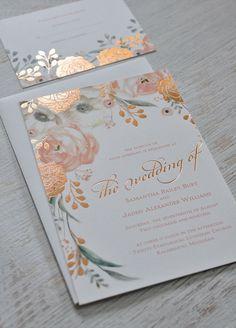 Ethereal wedding invitation