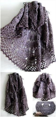 12 Free Crochet Patterns for Circular Vest Jacket | 101 Crochet