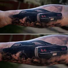 Muscle Car Tattoo    #MuscleCars #LoveOnlineToday.com