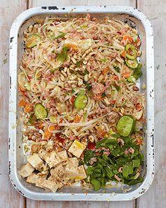 Koh samui salad, chilli tofu & Thai noodles