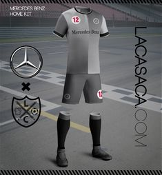 Racing football teams mercedes benz away nuestras for Mercedes benz football