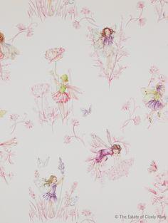 Tapet Meadow Flower Fairies Cream 708kr/rulle.