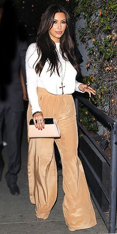 Silk Pants are a chic trend that can be dressed up or down with a little bling!