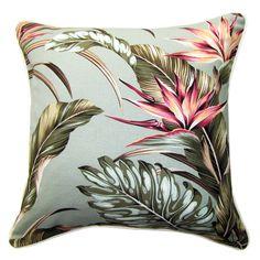 Oasis Cushions - Tropical Paradise Sage Fabric 45cm x 45cm