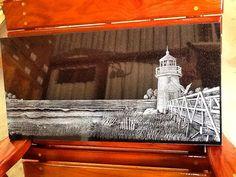 "12""x24"" premium Black laser tile etching scene! #lighthouse #laser #etching #inscription #art #black #white @dixiemonument @aplazer #i #inscribe #ingraved #anything:)"