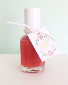 Custom Baby Shower Favor Tags Nail Polish Favor by PrintSmitten