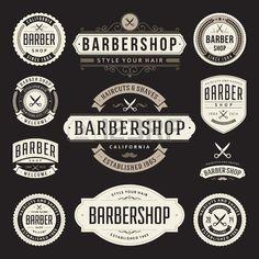 Barber shop vintage retro vector flourish and calligraphic typographic design elements - stock vector Barber Shop Vintage, Retro Vintage, Barbershop Design, Barbershop Ideas, Barber Logo, Calligraphy Signs, Retro Vector, Typographic Design, Salon Design