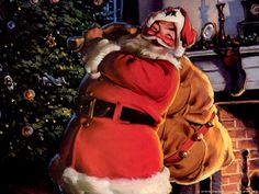 These excellent pictures of Santa Claus will surely gain your attention and interest. Show these pictures of Santa Claus to your kids! Coca Cola Santa, Coca Cola Christmas, Merry Christmas To All, Father Christmas, Santa Christmas, All Things Christmas, Vintage Christmas, Christmas Holidays, Happy Holidays