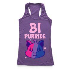 Bi T-shirts, Mugs and Bisexual Pride, Gay Pride, Pride Day, Lgbt Love, Pride Shirts, Racerback Tank Top, Athletic Tank Tops, Original Art, Cats