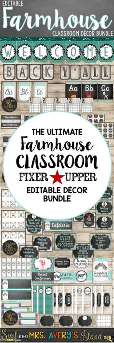 My Farmhouse Classroom Decor Bundle is a perfect back to school resource to help teachers with classroom organization and classroom management!  There's no doubt Chip and Joanna would put their seal of approval on this shabby chic bundle of back to school